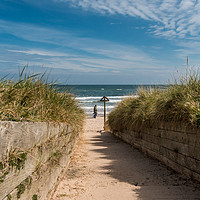 Buy canvas prints of Down to the Beach by Richard Laidler