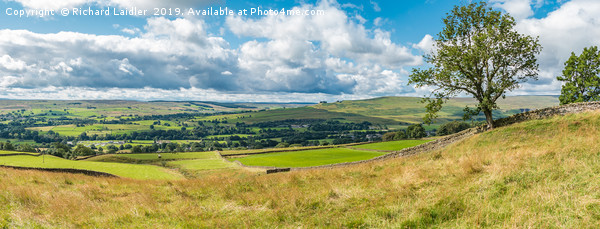 Teesdale to Lunedale from Blunt House Panorama Canvas Print by Richard Laidler
