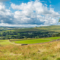 Buy canvas prints of Teesdale to Lunedale from Blunt House Panorama by Richard Laidler