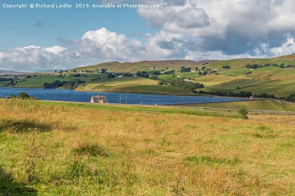 Grassholme Reservoir and Lunedale (1) Canvas print by Richard Laidler