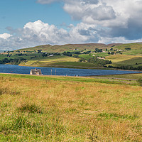 Buy canvas prints of Grassholme Reservoir and Lunedale (1) by Richard Laidler
