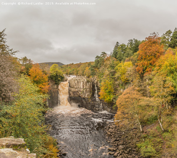 High Force Waterfall, Teesdale, in Autumn Canvas print by Richard Laidler