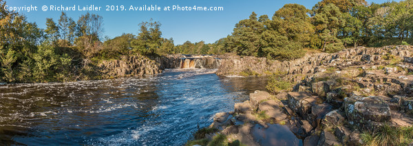 Autumn Morning at Low Force Waterfall Panorama Canvas Print by Richard Laidler