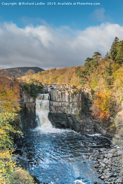 Autumn Colours at High Force Waterfall 2 Canvas print by Richard Laidler