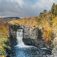 Buy canvas prints of Autumn Colours at High Force Waterfall 2 by Richard Laidler