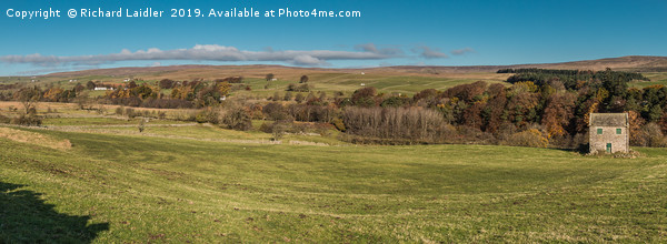 Upper Teesdale Panorama, Ettersgill to Bowlees Canvas Print by Richard Laidler