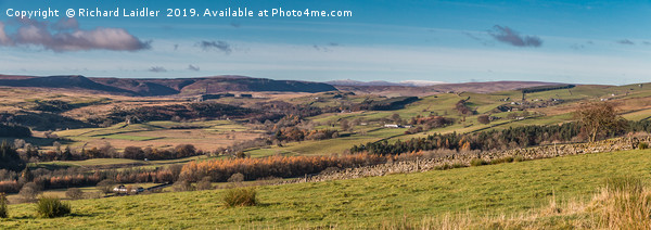Upper Teesdale and Pennine Peak Panorama Canvas Print by Richard Laidler