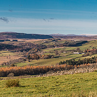Buy canvas prints of Upper Teesdale and Pennine Peak Panorama by Richard Laidler