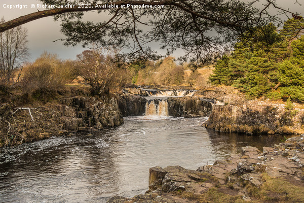 Winter Sun on Low Force Waterfall Teesdale (1) Canvas Print by Richard Laidler