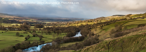 Winter Sun Teesdale Panorama from Whistle Crag Canvas Print by Richard Laidler