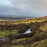 Buy canvas prints of Winter Sun Teesdale Panorama from Whistle Crag by Richard Laidler