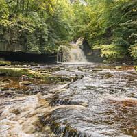 Buy canvas prints of Cauldron Falls, West Burton, Wensleydale by Richard Laidler