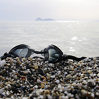 Buy canvas prints of Goggles with the serene scenery of Matala, Crete,  by Lensw0rld