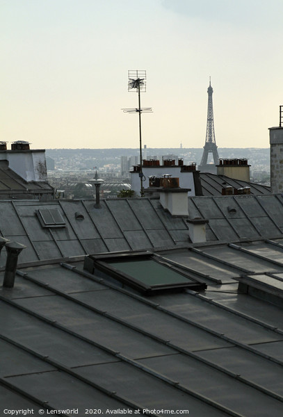 Overlooking the roof tops of Paris Framed Print by Lensw0rld
