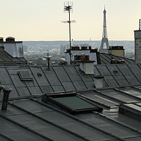 Buy canvas prints of Overlooking the roof tops of Paris by Lensw0rld