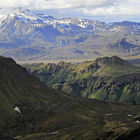 Buy canvas prints of Rugged mountain landscape in Iceland by Lensw0rld