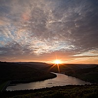 Buy canvas prints of Ladybower Sunset by Julian Taylor