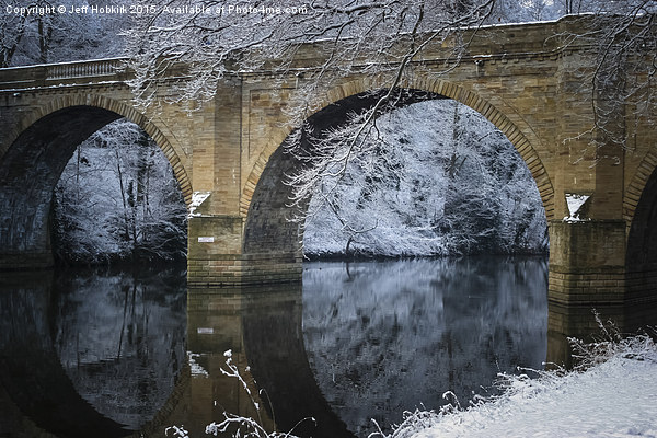 Prebends Bridge Winter Reflection Canvas print by Jeff Hobkirk