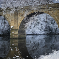 Buy canvas prints of Prebends Bridge Winter Reflection by Jeff Hobkirk