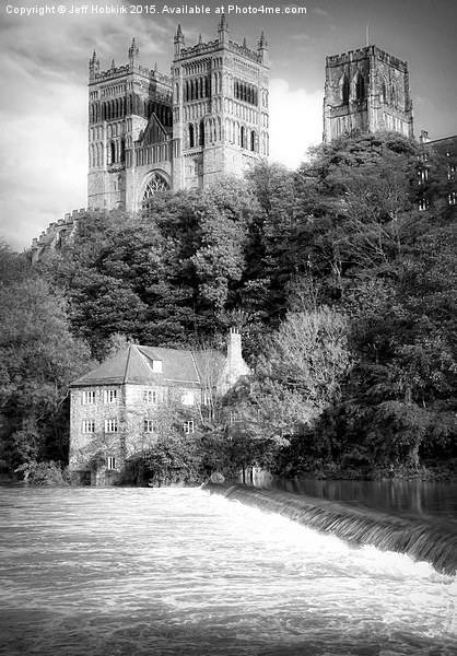 Durham Cathedral Above the Fulling Mill Canvas Print by Jeff Hobkirk