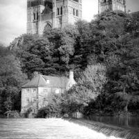 Buy canvas prints of Durham Cathedral Above the Fulling Mill by Jeff Hobkirk