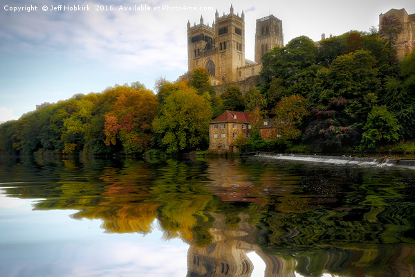 Cathedral Autumn Reflection Canvas print by Jeff Hobkirk