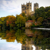 Buy canvas prints of Cathedral Autumn Reflection by Jeff Hobkirk