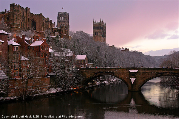 Durham Castle and Cathedral Canvas Print by Jeff Hobkirk