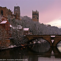 Buy canvas prints of Durham Castle and Cathedral by Jeff Hobkirk