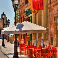 Buy canvas prints of Street Cafe by Jeff Hobkirk