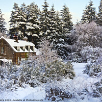 Buy canvas prints of Winter Cottage by Jeff Hobkirk
