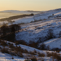 Buy canvas prints of Campsie Snow Scene at Sunset by Iain McGillivray