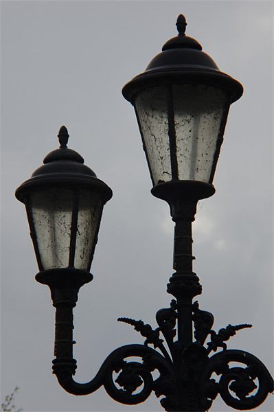 Twin Lamp Post 2 Print by Iain McGillivray