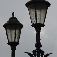 Buy canvas prints of Twin Lamp Post 2 by Iain McGillivray