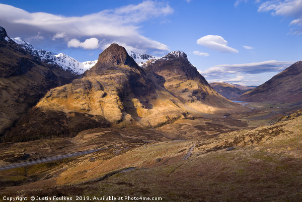 The Three Sisters of Glencoe, Scotland Canvas print by Justin Foulkes
