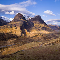 Buy canvas prints of The Three Sisters of Glencoe, Scotland by Justin Foulkes
