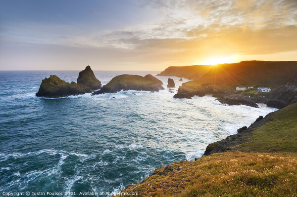 Kynance Cove, The Lizard Peninsula, Cornwall Canvas Print by Justin Foulkes