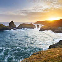 Buy canvas prints of Kynance Cove, The Lizard Peninsula, Cornwall by Justin Foulkes