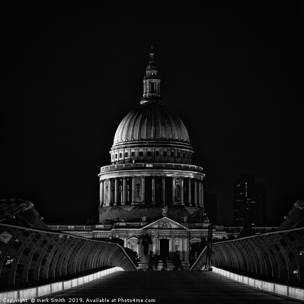 St Paul's at Night Framed Mounted Print by mark Smith