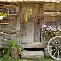 Buy canvas prints of old wooden hut by goce risteski