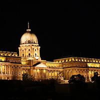 Buy canvas prints of Budapest royal castle by night by goce risteski