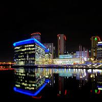 Buy canvas prints of Media City -Reflections  by David Tomlinson