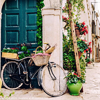 Buy canvas prints of Narrow streets of the beautiful city of Bari, ideal for strolling when we tour in Italy. by Joaquin Corbalan