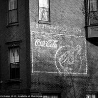 Buy canvas prints of Old advertising poster of soda drink on the brick walls of a building. by Joaquin Corbalan