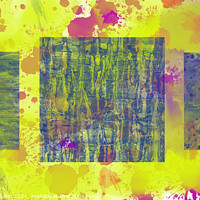 Buy canvas prints of Abstract background with geometric squares in the foreground wit by Joaquin Corbalan