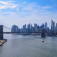 Buy canvas prints of Manhattan Skyline from Manhattan Bridge  by Graham Long