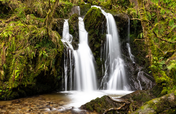 Aberfforest Waterfall Framed Mounted Print by Nick Hunt