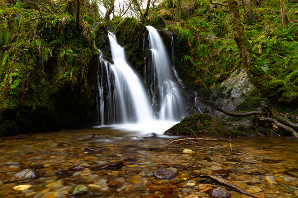 Welsh Waterfall Framed Mounted Print by Nick Hunt
