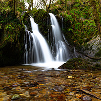 Buy canvas prints of Welsh Waterfall by Nick Hunt