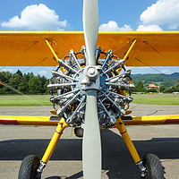 Buy canvas prints of Stearman Aircraft Engine   by MS Nature Photos